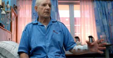 Heart patient George Marshall in hospital in India