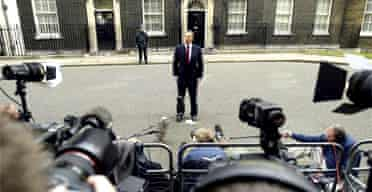 Tony Blair announces the May 5 election to the press in Downing Street