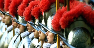 New recruits to the Vatican Swiss Guard
