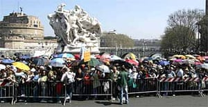 Pilgrims queue to pay their respects to Pope John Paul II