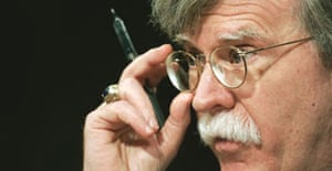 John Bolton during his confirmation hearing before the US senate foreign relations committee