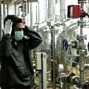 A worker at Iran's Isfahan nuclear facility