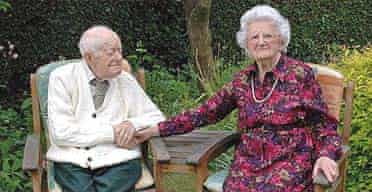 Percy Arrowsmith, 105, and his 100-year-old wife Florence