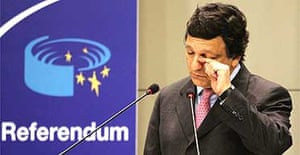 EU Commission President Jose Manuel Barroso at a media conference at EU headquarters in Brussels