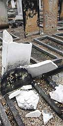 The West Ham Jewish cemetery in east London desecrated for the 117th time in 15 years