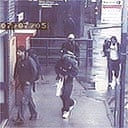 A CCTV image of the four London bombers arriving at Luton train station at 0721 on Thursday July 7. The image shows from left to right Hasib Hussain, Germaine Lindsay (dark cap), Mohammed Sidique Khan (light cap) and Shahzad Tanweer