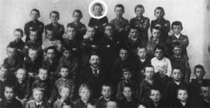 Adolf Hitler (circled) with his fellow pupils at school in Lambach, Austria