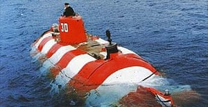 A mini-submarine similar to the Russian vessel trapped on the sear floor of the Pacific