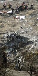 Greek workers sift through debris of crashed Helios jet