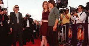 Pat Kingsley with Kidman and Cruise at the premiere of Eyes Wide Shut