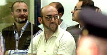 Imad Eddin Barakat Yarkas hears his sentence read out in court.