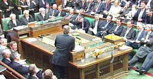 Tony Blair answering questions in the Commons