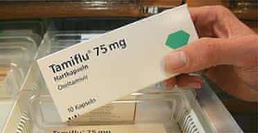 A packet of the anti-retroviral drug Tamiflu