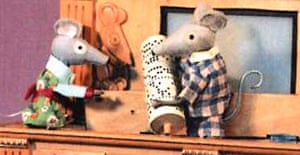 The mice and the mouse organ from Bagpuss. Photograph: Peter Firmin
