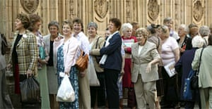 The queue at the Women's Institute general meeting in the Royal Albert Hall in June 2005. Photograph: Martin Argles/Guardian