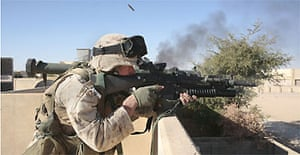 North west Iraq, Ubaydi. US marines have taken over the town, as part of an ongoing offensive against insurgents in the North west