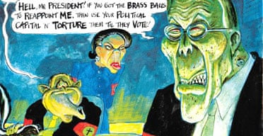 Designed to annoy: Martin Rowson received a deluge of venomous reaction to his December 6 2004 cartoon