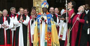 Dr John Sentamu after his enthronement as the 97th Archbishop of York