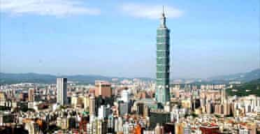 Taipei 101 building in Taiwan, the world's tallest building