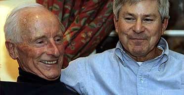 Roger Lockyer (left) and his partner Percy Stevens