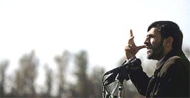 Mahmoud Ahmadinejad speaks in the Iranian city of Zahedan