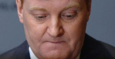Charles Kennedy announces  his resignation as Liberal Democrat leader. Photograph: Fiona Hanson/PA