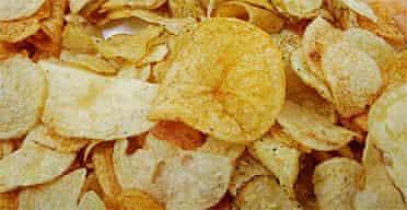 A pile of crisps