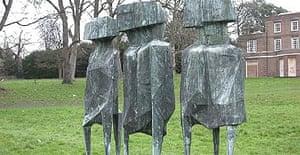 The stolen Lynn Chadwick sculpture The Watchers