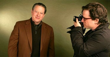 Former vice president Al Gore and director Davis Guggenheim at the Sundance film festival. Photograph: Mark Mainz/Getty