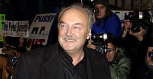 George Galloway leaves the Celebrity Big Brother household in north London. Photograph: Yui Mok/Press Association