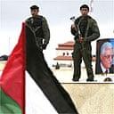 Security surrounding Mahmoud Abbas's compound