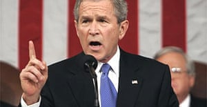 George Bush delivers his fifth State of the Union address