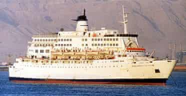 """The Salam """"Boccaccio"""" 98 ferry, which has sunk in the Red Sea"""