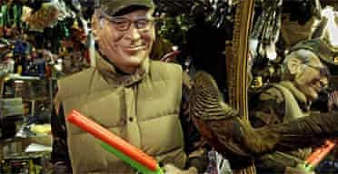 A Dick Cheney hunting outfit on sale in Manhattan. Photograph: Louis Lanzano/AP