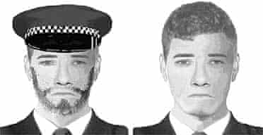 Police e-fits of one of the alleged robbers in the multi-million pound Securitas armed robbery in Tonbridge, Kent