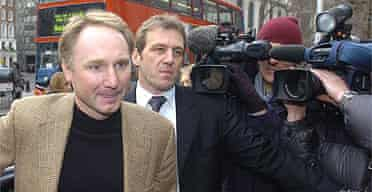 Dan Brown, author of the Da Vinci Code, arrives at court in London