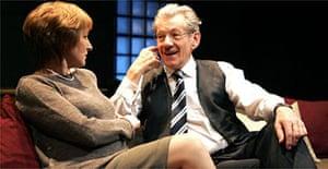 Deborah Findlay and Ian McKellen in The Cut at the Donmar