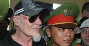 Gary Glitter arrives at a Vietnamese court in Vung Tau to face charges of molesting two young girls. Photograph: Kham/Reuters