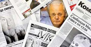 Slobodan Milosevic in Russian newspapers