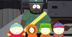 The South Park character Chef (wearing a bullet belt). Photograph: Comedy Central/Reuters