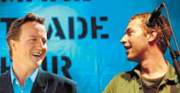 David Cameron and Chris Martin