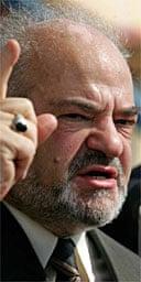 The Iraqi prime minister, Ibrahim Jaafari. Photograph: Ceerwan Aziz/AP