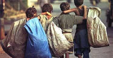 Child rag-pickers in Calcutta