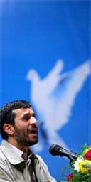 Iran's president, Mahmoud Ahmadinejad. Photograph: AP
