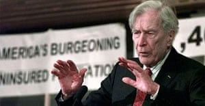 John Kenneth Galbraith who has died at the age of 97. Photograph: Charles Krupa/AP