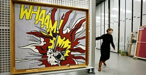 Roy Lichtenstein's Whaam! Comes out of storage at Tate Modern. Photograph: David Levene