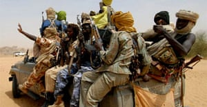Members of the Sudanese Liberation Army in Susuwa, north Darfur. Photograph: Reuters