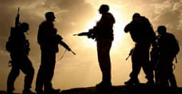 British soldiers from the Helmand task force in Afghanistan. Photograph: John D McHugh/AFP/Getty Images