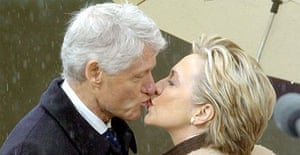 Former US president Bill Clinton and his wife Hillary