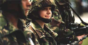 Female soldier in the British army
